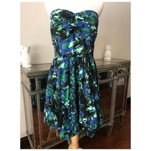 TORRID Strapless Print Dress Sz 20